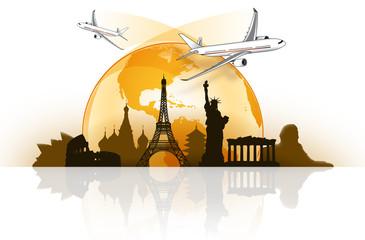 Viaggiare intorno al mondo in aereo