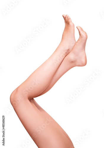 Naked female legs