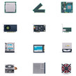 Vector computer parts icon set