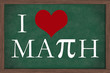 I Love Math Chalkboard
