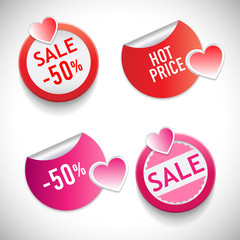 Stickers with sale and best price massages