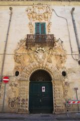 Bardoscia palace. Galatina. Puglia. Italy.