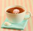 Hot chocolate with meringue cookies