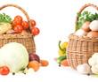 vegetable food in basket