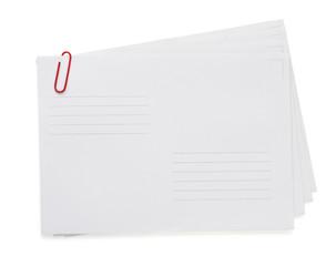 paper envelope on white