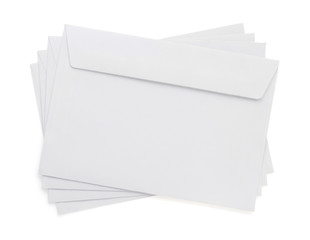 paper envelope on white