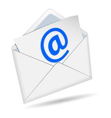 Concetto di e-mail su uno sfondo bianco