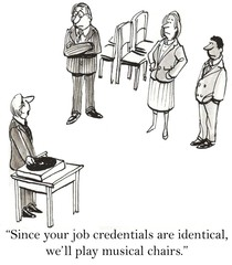 Musical chairs to choose among job applicants