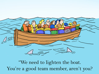 We need to lighten the boat.