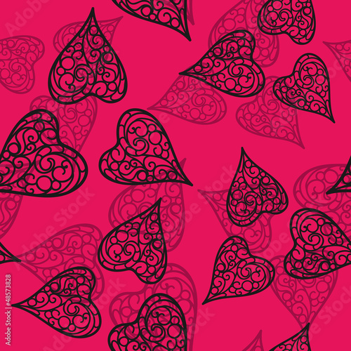 Vector flourish seamless pattern