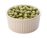 Roasted Edamame Beans Isolated clipping path