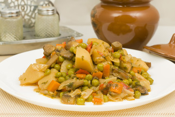 vegetable stew with mushrooms
