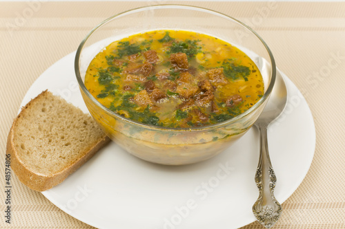 peasant soup with bread © SK
