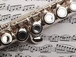 flute and musical notes