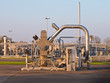 Natural gas well processing plant backdrop