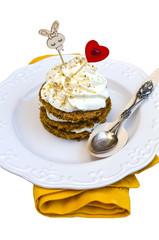 Saint Valentine's Carrot Cake Isolated