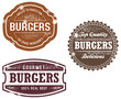 Vintage Style Burger Stamps