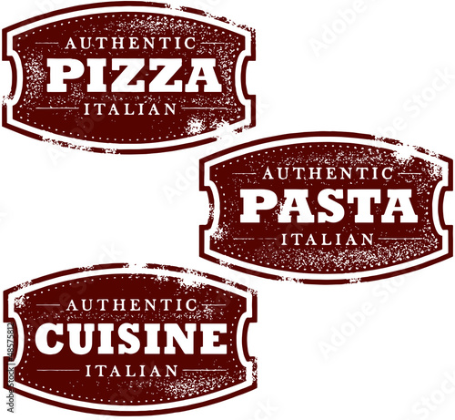 Italian Restaurant Food Graphics