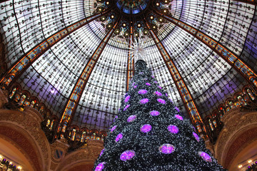 The Christmas tree at Galleries Lafayette, Paris