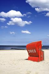 Strandkorb Sommer Saison 2013 Hochformat