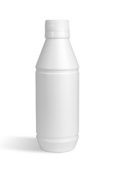 White bottle isolated with Clipping Path