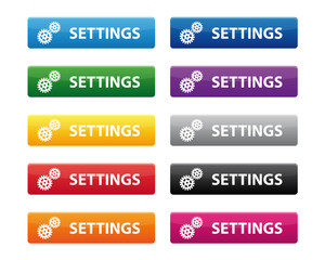 Settings buttons