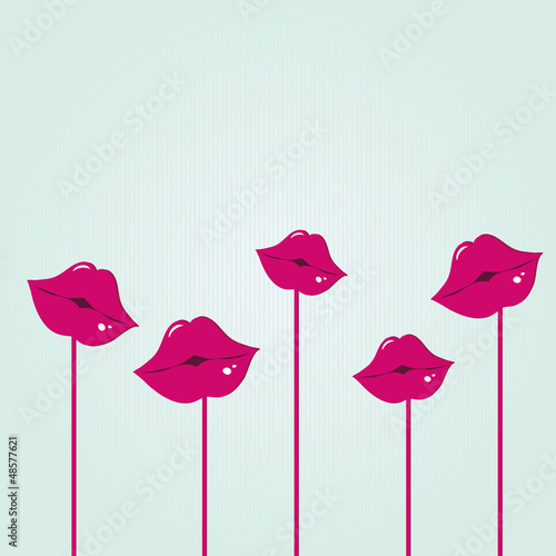 Lips. Vector Illustration