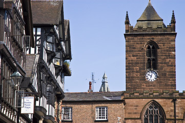 Buildings along the Chester Rows, Chester.
