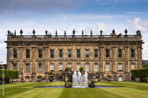 Historic Chatsworth House, Derbyshire.