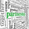 Partnership and business concept in tag cloud