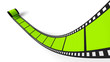 Blanko Filmrolle Grün 01
