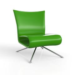 ClubStuhl Grün 3D