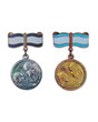 The Soviet medals for mother of the heroine