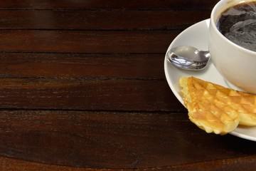 Coffee with waffle