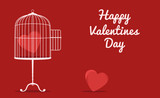 fun valentines card with cage