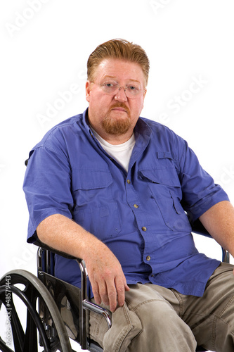 Man Wheelchair Sad