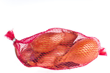 Net bag of shallots.