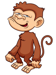 illustration of Monkey cartoon