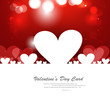Red Valentines day hearts fantastic love design
