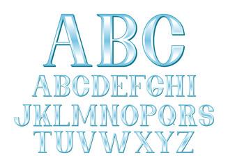 Glassy Blue Font