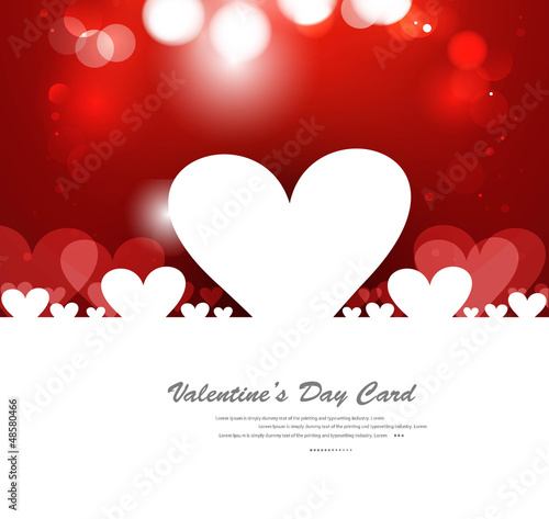 Red Valentines day hearts fantastic love design
