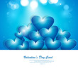 Blue Valentines day hearts creative love background illustration