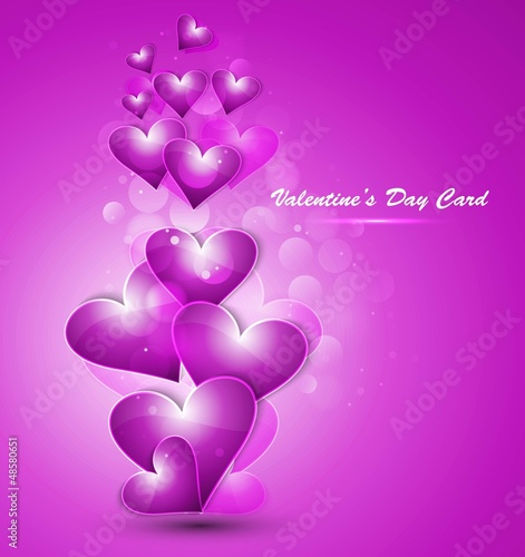 Valentines day hearts colorful love card
