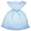 A light blue pouch bag