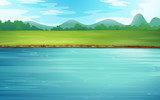 A river and a beautiful landscape - 48581058