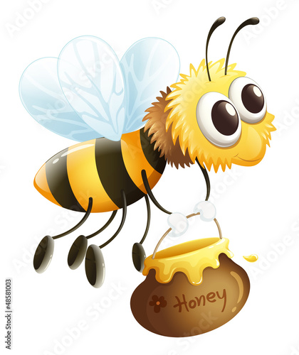 A bee carrying a honey