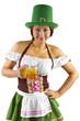 St Patrick's Day waitress