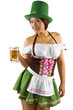 St Patrick's Day waitress