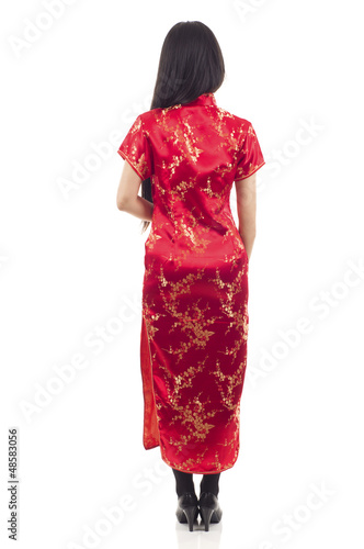 Back View Asian Woman