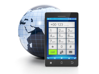 Call from a mobile phone at any place in the world for free